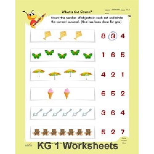 Maths practice worksheets for ukg