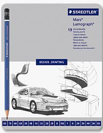Staedtler Mars Lumograph 19 Assorted Degrees Pencil - Metal Box