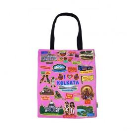 Eco Corner Big Coloured Kolkata Cotton Bag