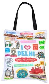 Eco Corner Big White Delhi Cotton Bag