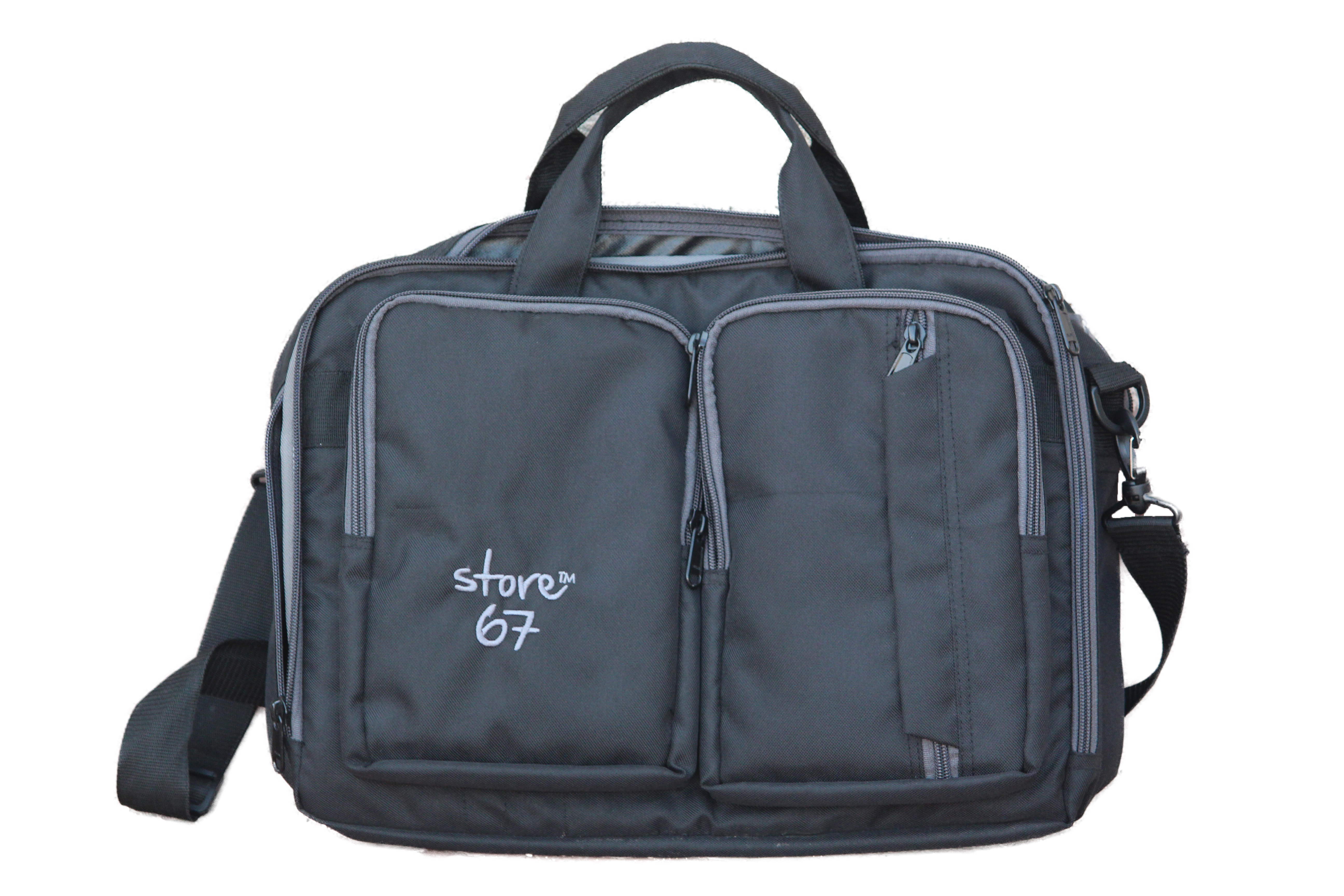 Executive Bag with front 2 pockets - Black