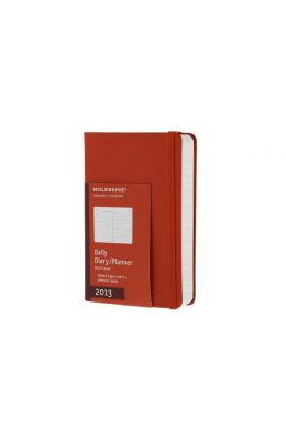Moleskine 2013 Daily Planner, 12 Month, Pocket, Red, Hard Cover (3.5 X 5.5)