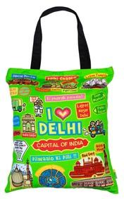 Eco Corner Big Coloured Delhi Cotton Bag