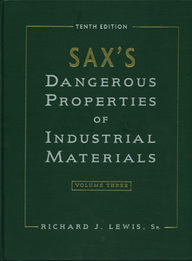 Sax's Dangerous Properties Of Industrial Materials 10th Ed. 3 Vol. Set.