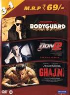 Bodyguard / Don 2 / Ghajini (3 in 1)