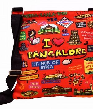 Eco Corner Coloured Bangalore Cotton Sling Bag