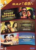 Rowdy Rathore / Commando / Himmatwala (3 in 1)
