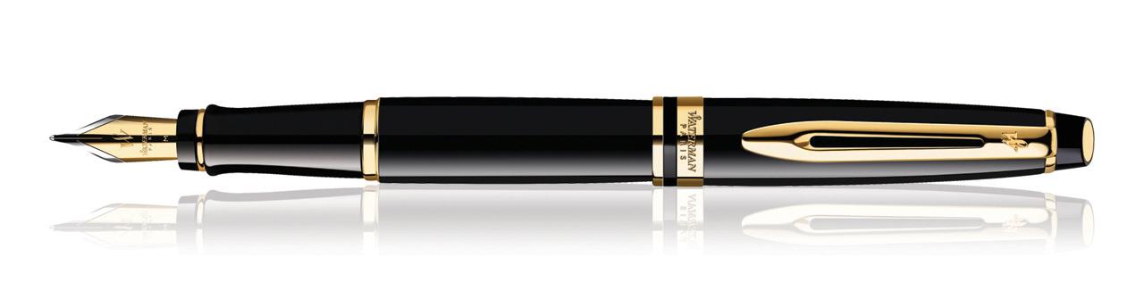 Waterman Expert Black GT Fountain Pen (Medium Nib)