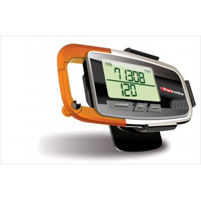 Portable Health Key 3D Pedometer(Orange)