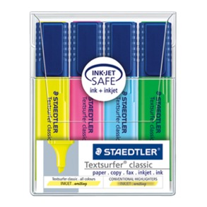 Staedtler Classic 364 classic Highlighter Pen pack of 4 colors