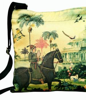 Eco Corner Indian Art Horse Cotton Sling Bag