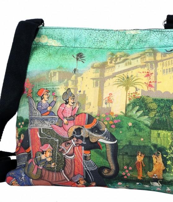 Eco Corner Indian Art Palace Cotton Sling Bag