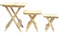 IVEI Folding Tables (Set of Three)