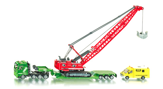 Funskool Heavy Haulage Transporter With Excavator And Service Vehicle