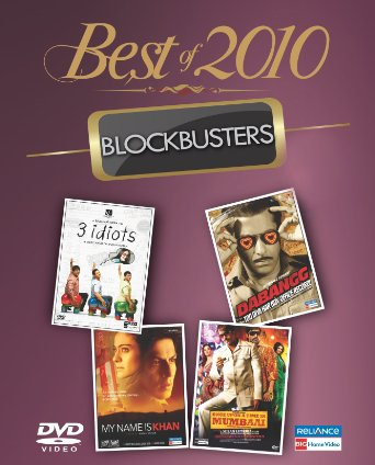 Best Of 2010: Blockbusters-3 Idiots / Dabangg / Once Upon A Time In Mumbai / My Name In Khan (4 in 1)