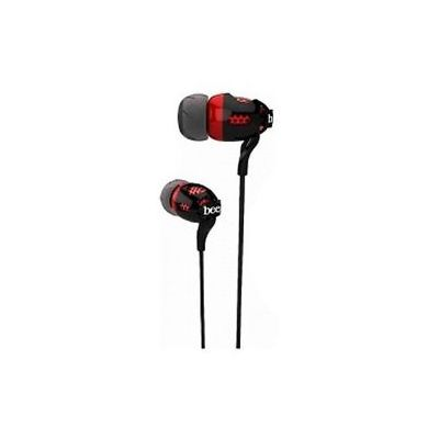 Portronics BEE Earphone with Mic (Black - Red)