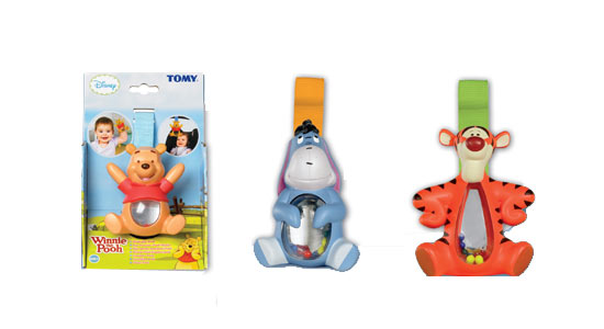 Tomy Winnie The Pooh Shakeables Eeyore/Tigger/Pooh
