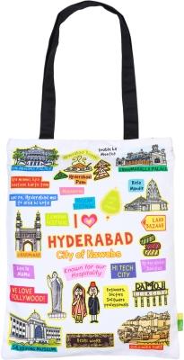 Eco Corner Small White Hyderabad Cotton Bag