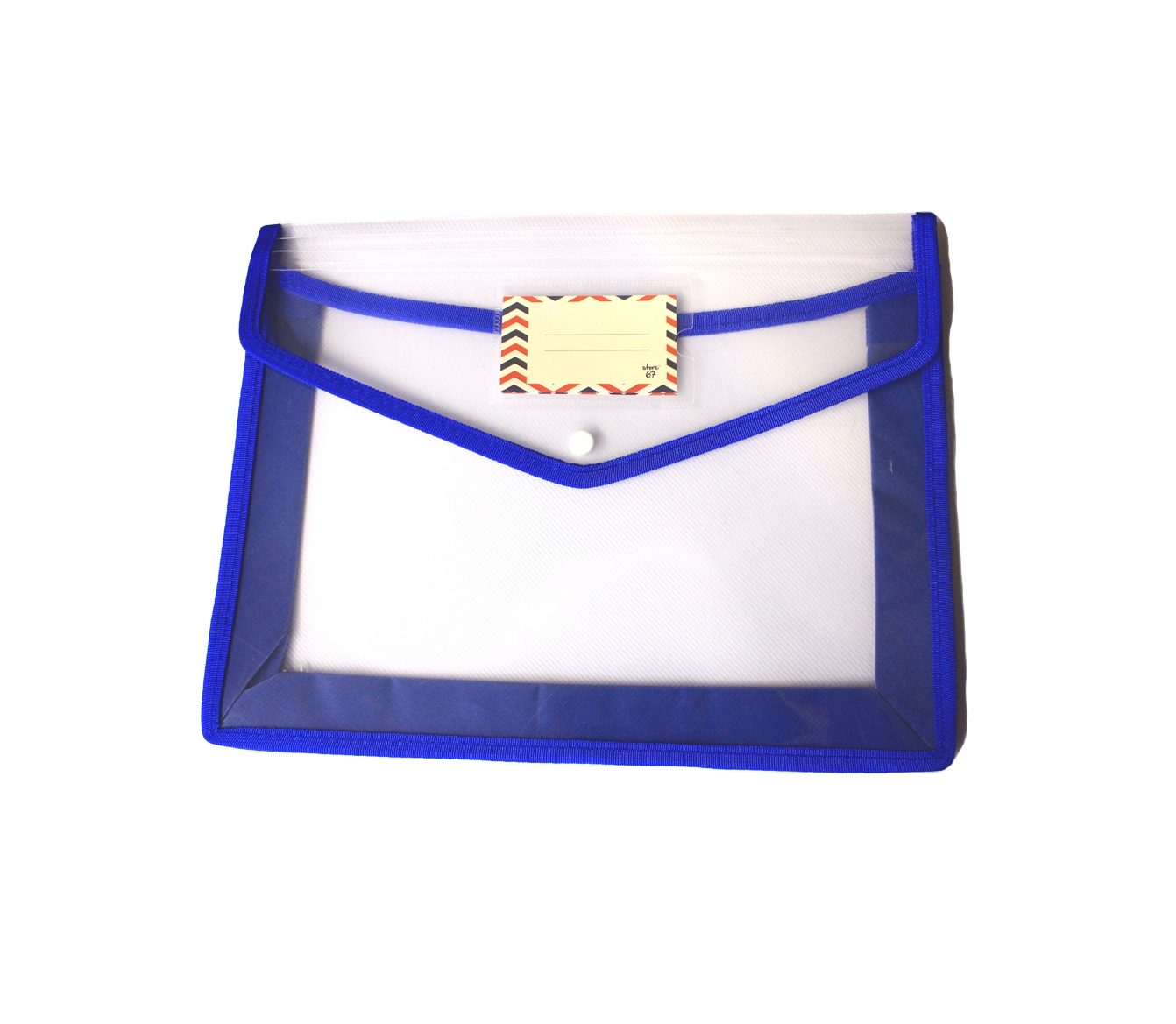 Store67 Document Folder With Piping (Blue)