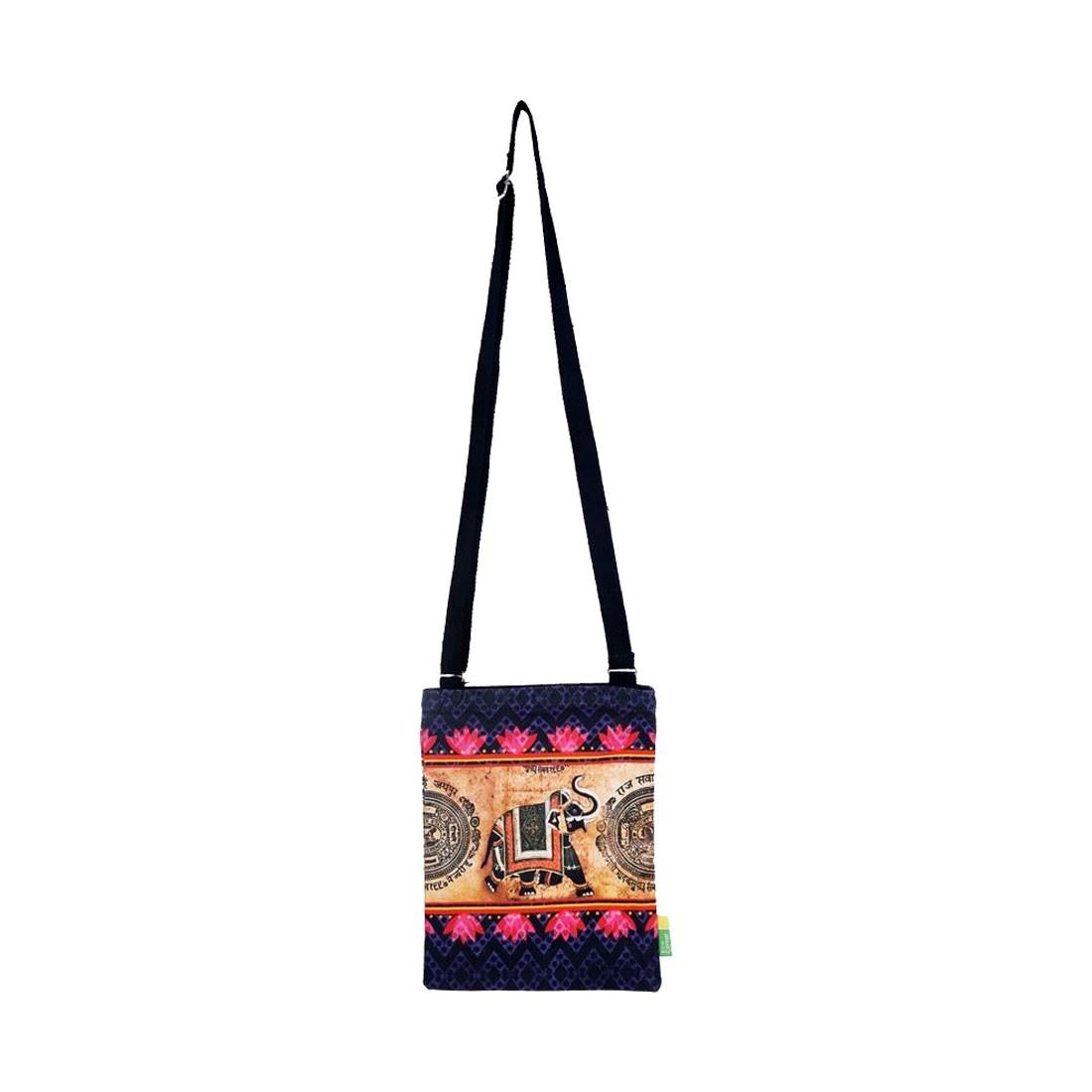Eco Corner Small Indian Elephant Sling Bag