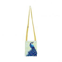 Eco Corner Small Yellow Elegant Peacock Sling Bag