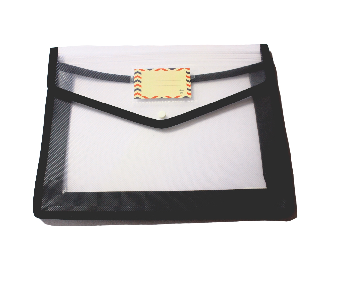 Store67 Document Folder With Piping (Black)