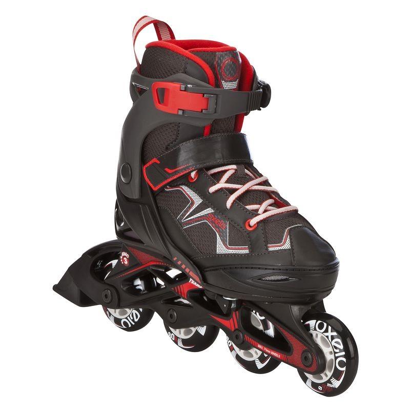 Rollers Inline (Black Red) (Size - 10.5-13 Uk) - Roller Fit3 Junior Boy