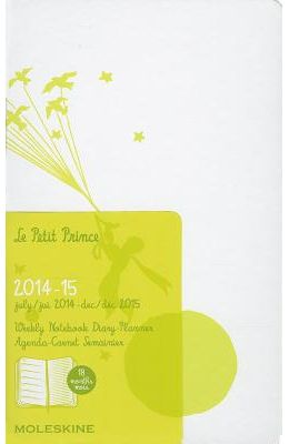 Moleskine 2014-2015 Le Petit Prince Limited Edition Weekly Notebook, 18m, Pocket, White, Hard Cover (3.5 X 5.5)