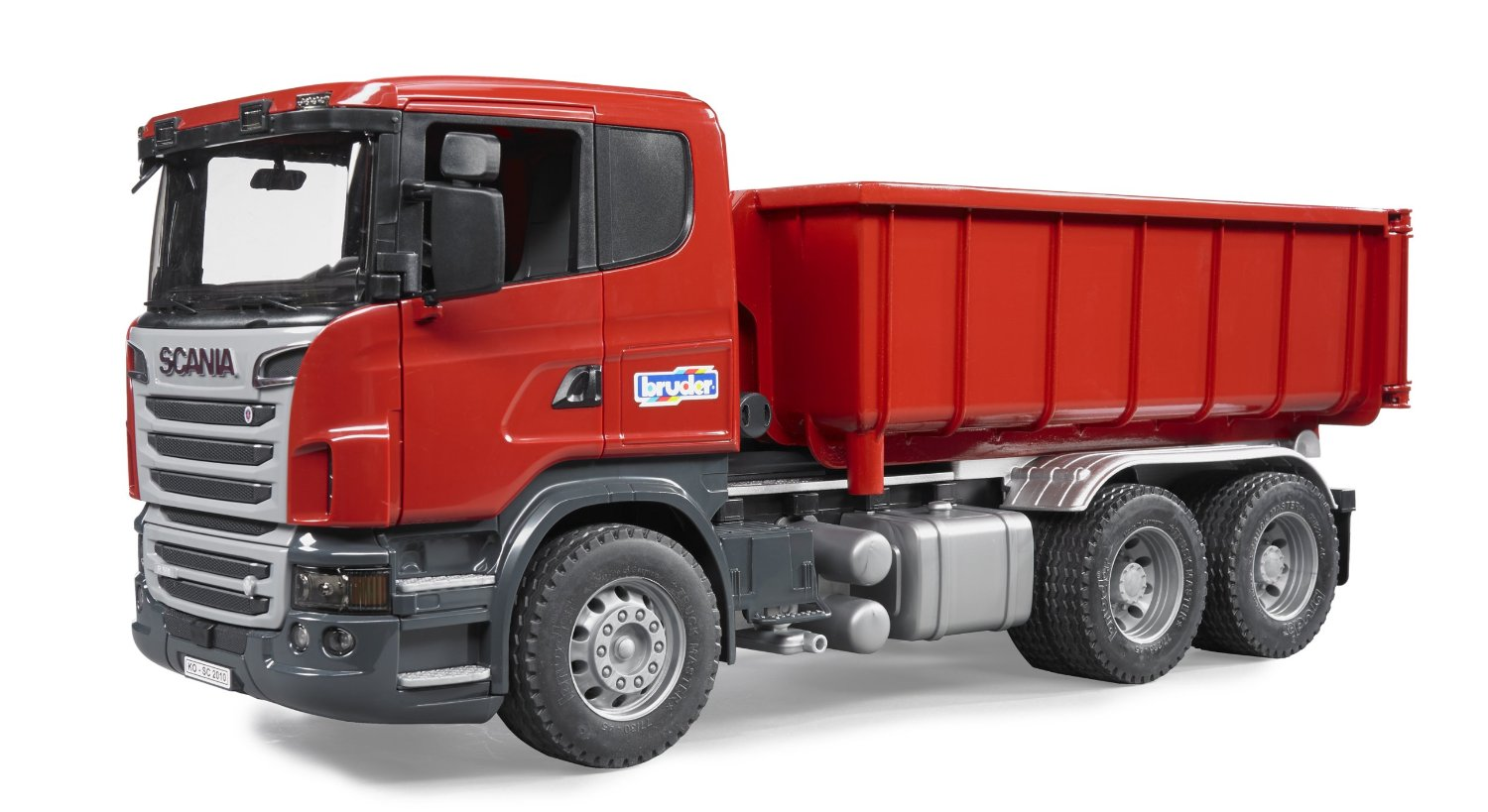 Bruder Scania Truck with Roll of Container