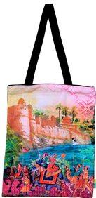 Eco Corner Small Indian Art Parade Cotton Bag
