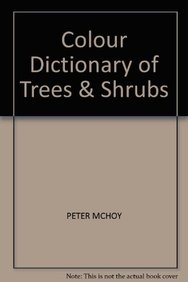 COLOUR DICTIONARY OF TREES AND SHRUBS price comparison at Flipkart, Amazon, Crossword, Uread, Bookadda, Landmark, Homeshop18