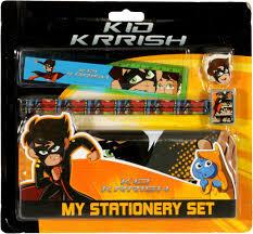 Kid Krrish My Stationery Set