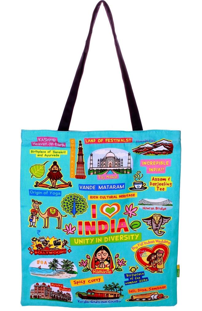 Eco Corner Small Coloured India Bag