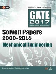 Gate 2017 Mechanical Engineering Solved Papers 2000-2016