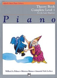 Alfred's Basic Piano Library Piano Course, Theory Book Complete Level 1: For The Later Beginner