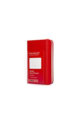 Moleskine Extra Small Horizontal Weekly Planner: Red