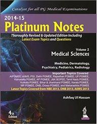 Platinum Notes Vol 2: Medical Sciences 2014-15