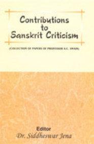Contributions To Sanskrit Criticism