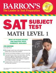 Barron's SAT Subject Test Math Level 1, 4th Edition