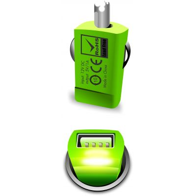 Portronics Car Power(Green)