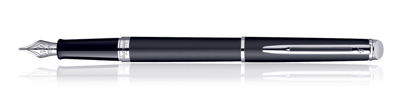 Waterman Hemisphere Matt Black CT Fountain Pen (Fine Nib)