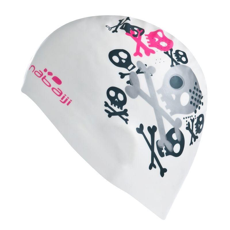 Swimming Headgear (White) - Silicone P Swimming Cap