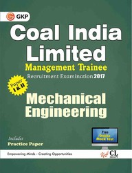 Coal India Limited Management Trainee Mechanical Engineering 2017 price comparison at Flipkart, Amazon, Crossword, Uread, Bookadda, Landmark, Homeshop18