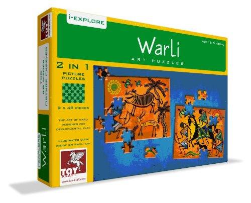 Toy Kraft Warli Art Puzzle - 2 In 1