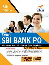 Target Sbi Bank Po 20 Practice Sets Preliminary & Main Workbook With 5 Online Test