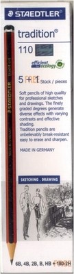 Staedtler Tradition Drawing Pencils 6 assorted degrees - Cardboard box