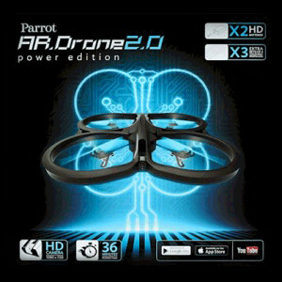 Parrot AR.DRONE 2.0 Power Edition Blue Common