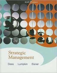 Strategic Management: Texts & Cases