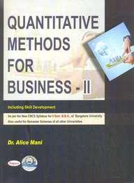 Quantitative Methods For Business 2 For 2 Sem Bba  Cbcs Syllabus : Bu