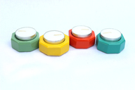 IVEI Wooden Tealight Holders (Set of 4)